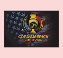 Conmebol Fifa Copa America Centenario, Usa 2016 Flag One Piece - Long Sleeve