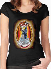 Wedding De Los Muertos Women's Fitted Scoop T-Shirt