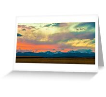 Mummy Range Sunset Greeting Card