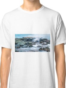 Rocks and waves at Point Cartwright  Classic T-Shirt
