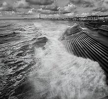 Blackpool promenade by Beverly Cash