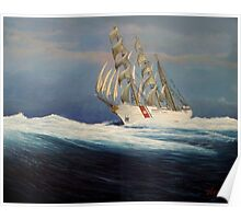 United States Coast  Guard Barque Eagle Poster