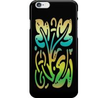 Smartphone Case - Abstract Botanical - Gold Teal Green iPhone Case/Skin