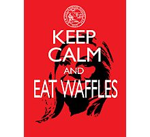 Keep Calm and Eat Waffles Photographic Print