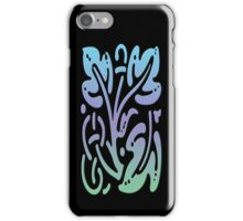 Smartphone Case - Abstract Botanical - Green, Purple, Blue iPhone Case/Skin
