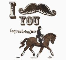 I Moustache You Equestrian Kids Tee