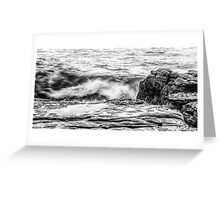 Rocks and waves at Point Cartwright  Greeting Card