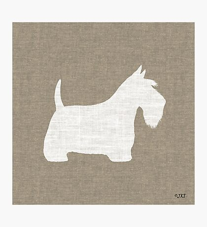 White Scottish Terrier Silhouette(s) Photographic Print