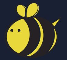 Cute little bumble fat bee Kids Tee