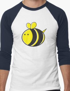Cute little bumble fat bee Men's Baseball ¾ T-Shirt
