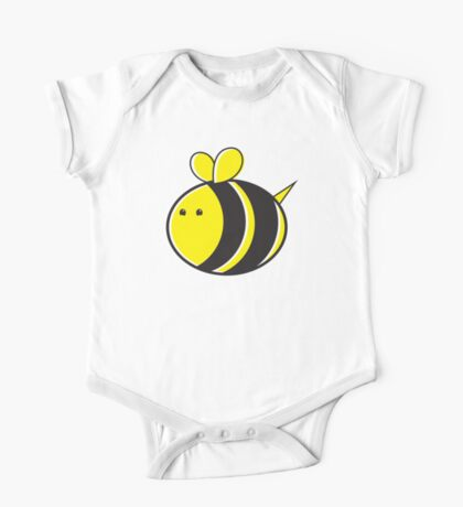 Cute little bumble fat bee One Piece - Short Sleeve