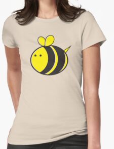 Cute little bumble fat bee Womens Fitted T-Shirt