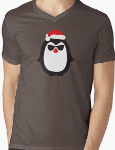 Santa penguin Mens V-Neck T-Shirt