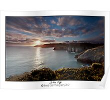 Lydstep cliffs Poster