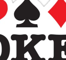 I Love Poker Sticker