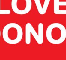 Love Donor Sticker