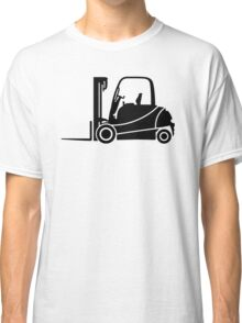 Forklift Truck Silhouette Classic T-Shirt
