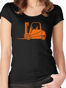 Forklift Truck Silhouette Women's Fitted Scoop T-Shirt