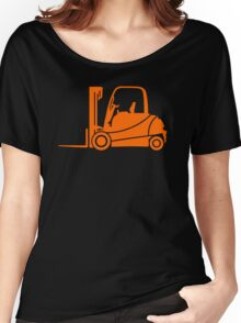 Forklift Truck Silhouette Women's Relaxed Fit T-Shirt