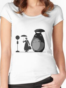 mary and totoro Women's Fitted Scoop T-Shirt