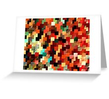 relief tetris structure Greeting Card