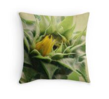 Bud in Bloom Throw Pillow
