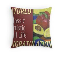 Classic Artistic Still Life Group: Feature Banner Throw Pillow