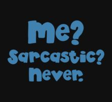 Me Sarcastic? Never! blue One Piece - Short Sleeve