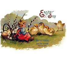 Happy Easter - Children's Greeting Card Photographic Print