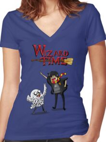 Wizard Time! Women's Fitted V-Neck T-Shirt