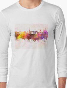 Saint Petersburg skyline in watercolor background Long Sleeve T-Shirt
