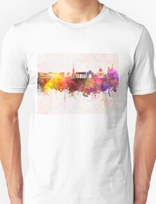 Saint Petersburg skyline in watercolor background Unisex T-Shirt
