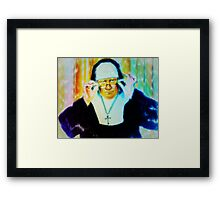 The Skeptical Nun Framed Print