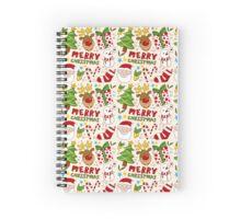 Christmas Pattern Spiral Notebook