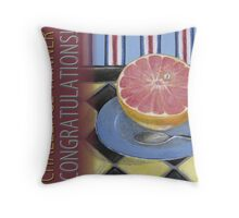 Classic Artistic Still Life Group: Winner Banner Throw Pillow