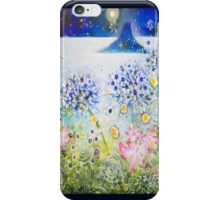 Flowers,mount,angels and moon. iPhone Case/Skin