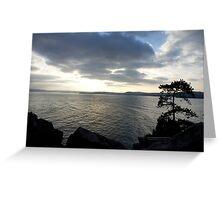 Sea view at sunset Greeting Card