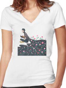 Blooming Joseph Women's Fitted V-Neck T-Shirt