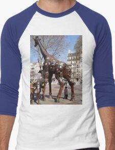 Giraffe Sculptures, Marseilles, France 2012 Men's Baseball ¾ T-Shirt