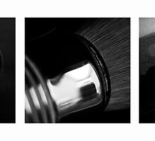Straight Razor Shaving Tryptych I by Ronan Hickey