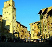 A Piazza In San Gimignano by Fara