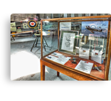 MH434 And The OFMC Model Case Hangar 2 Duxford ! Canvas Print