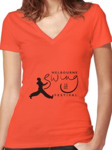 Melbourne Swing Festival 2013 official tee Women's Fitted V-Neck T-Shirt