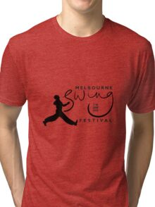 Melbourne Swing Festival 2013 official tee Tri-blend T-Shirt