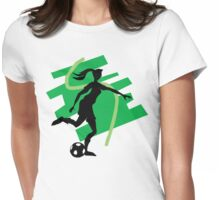 Girl's Soccer Womens Fitted T-Shirt