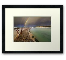 Rainbow over the canoe pool Framed Print