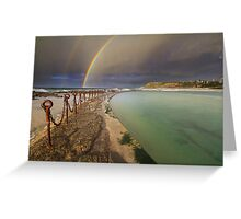 Rainbow over the canoe pool Greeting Card