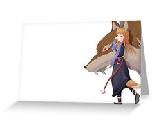 Holo the wise wolf - Spice and Wolf Greeting Card