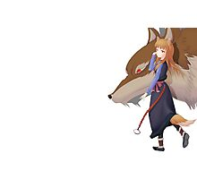 Holo the wise wolf - Spice and Wolf Photographic Print