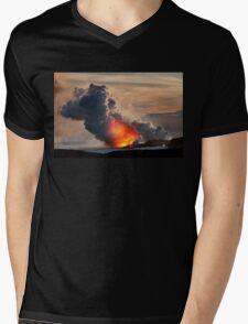 Sunset at Kalapana 3 Mens V-Neck T-Shirt